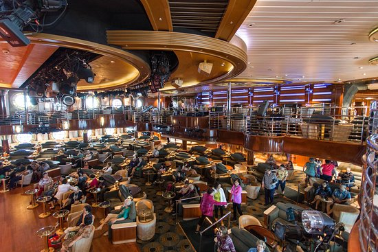 Line Dance Classes in the Universe Lounge on Coral Princess