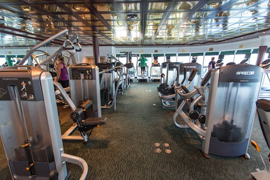 Fitness Center on Coral Princess