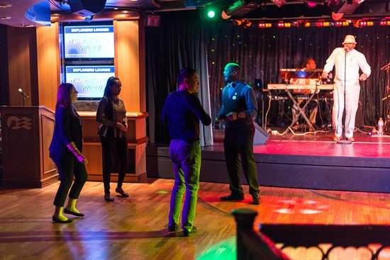 Dance Party in the Explorers Lounge on Coral Princess