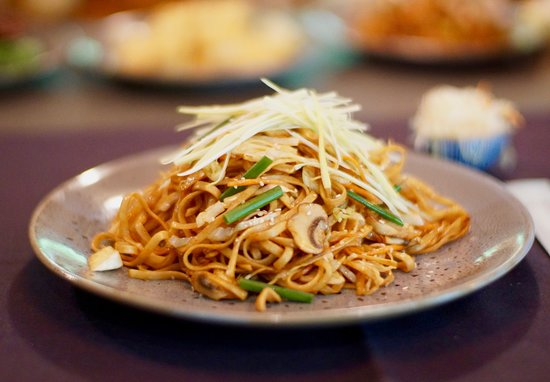 Wok fried noodle with vegetable