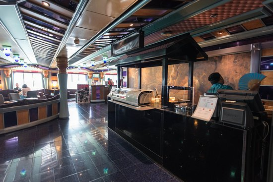 Sushi Cart on Carnival Miracle