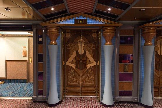 Elevators on Carnival Miracle