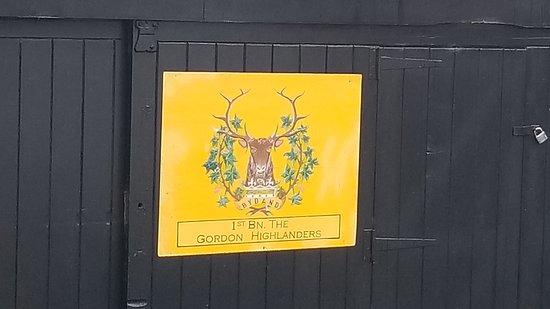 The Gordon Highlanders Museum: Regimental Signs are everywhere