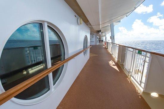 Exterior Deck on Norwegian Dawn