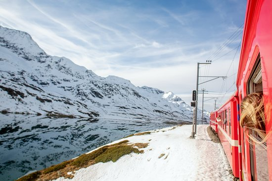 Swiss Alps Bernina Express Rail Tour...