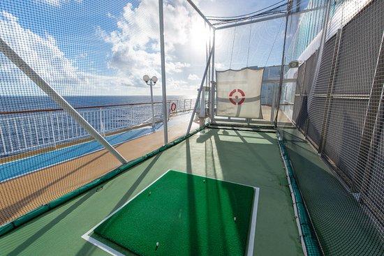 Golf Cage on Norwegian Dawn