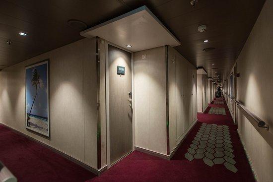 Hallways on MSC Seaside