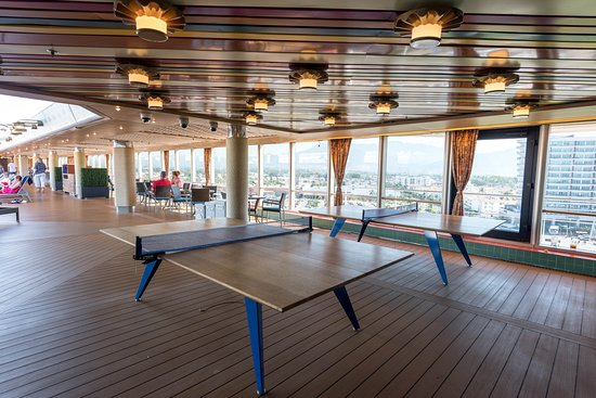 Table Tennis at the Lido Pool on Westerdam