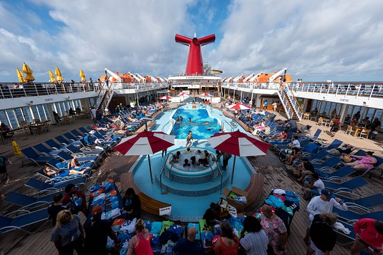 Main Pool on Carnival Elation