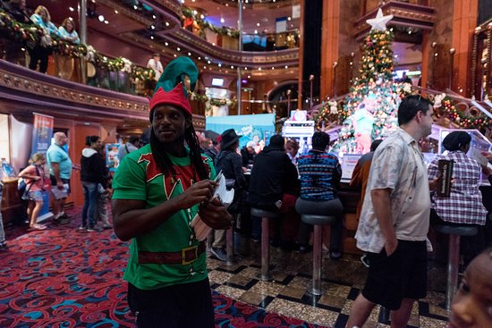 Holiday Tree Lighting Event in the Atrium on Carnival Elation
