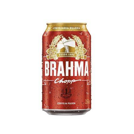 Aqui tem Pizza e Conveniencia: Brahma em lata.