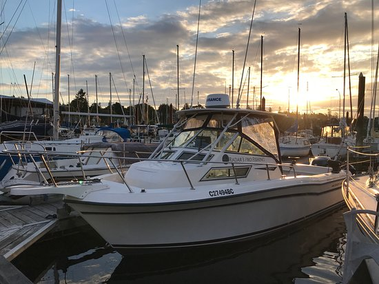 Comox, Canada: The boat all tucked away for the eve.