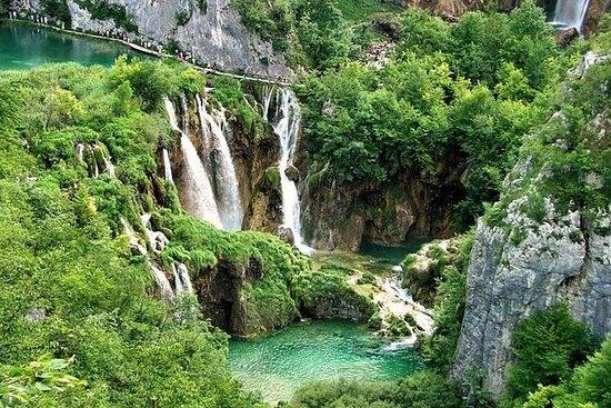 El parque natural de Plitvice Lakes...