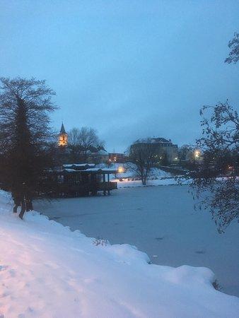 Weiskirchen, Germany: Kurpark im Winter
