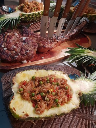 Tomahawk Steak & Pineapple fried rice