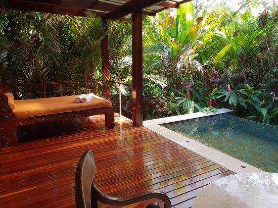 Terrasse avec piscine d\'eau volcanique - Picture of Nayara ...