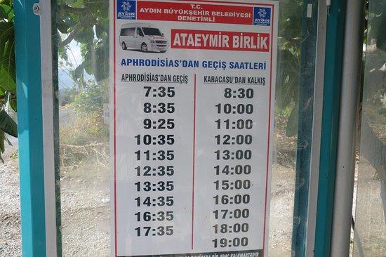 Geyre, Turkey: Расписание из Афродисиаса