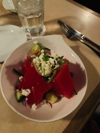 Māla Ocean Tavern: What's not to like about a juicy watermelon salad with feta cheese