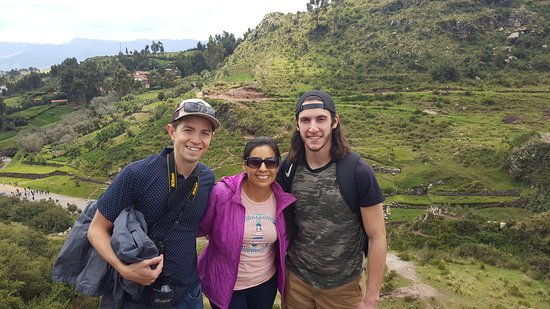 Sandra, Brian, and I during our travels!