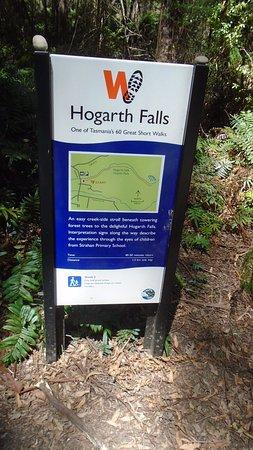 Hogarth Falls sign