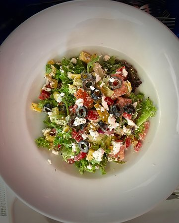 The Landing Cafe: Beat the summer with delicious feta cheese salad choices..