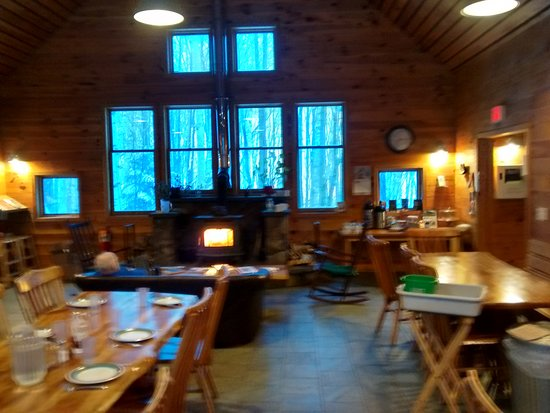 Dining Room And Wood Stove In Flagstaff Hut Picture Of