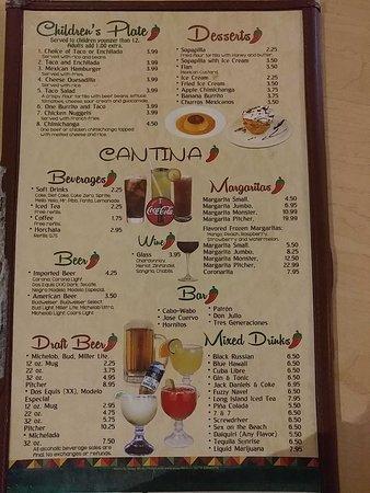 Unicoi, TN: childrens menu, desserts, and drinks