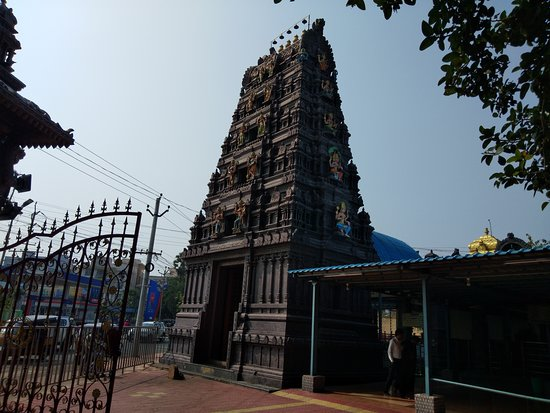 Visakhapatnam District, Индия: Temple Gopuram - Side View
