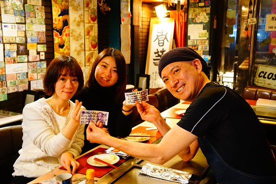 Teppan Tavern Gion Tenamonya: We're happy to see you! Please come & see us with your husbands someday! Hope to see you soon! OOKINI & MATANE!