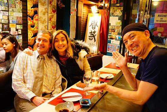 Teppan Tavern Gion Tenamonya: Thank you very much for really fun 2 nights with you, Maurizio-san! We love your good mood! Please have great lucky year together! OOKINI & MATANE & CHAO!