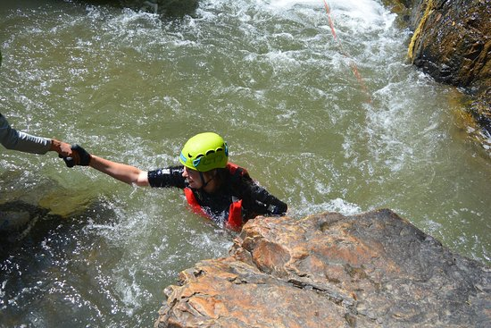 Highland Sport Travel: YOU NEVER WALK ALONE You'll be in the safe hands of our expert guides who will teach you everything you need to know. Your safety is our number one priority, so all you need to do is relax and enjoy every second during #canyoning