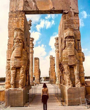 Iran,Shiraz,Persepolis,60 k.m north of Shiraz. the land of peace and friendship. this gate was called the gate of friendship of all nations 2500 years ago. Nothing is unattainable. You can either pass through this gate. Coordinate with us very easy. guide,transfer and lunch (in the heart of nature) with the best price. Gmail: zigzagtrip.ir@gmail.com whats up: 989174259074