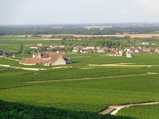 โวกีออต, ฝรั่งเศส: Le strade della Borgogna in mezzo ai vigneti, fra Vougeot e Nuits Saint Georges