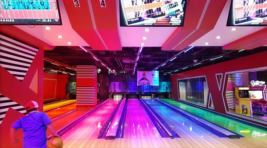 BowlStation: THE colorful lights are on every evening.