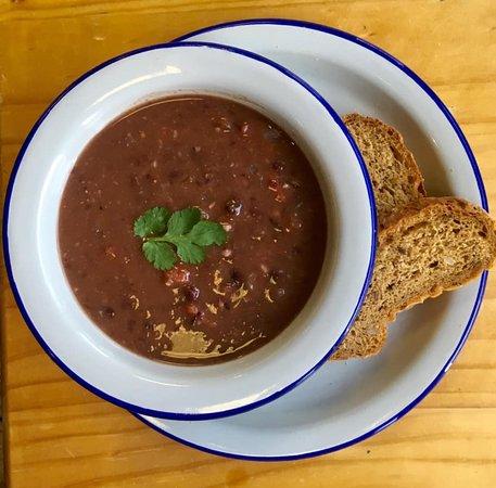 Black bean chilli soup