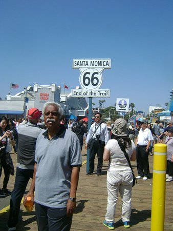 Santa Monica Pier - western end of trail of the famous Route 66