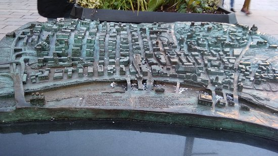 Bronze 3D Map of City Centre