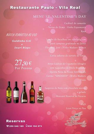 Restaurante Paulo: Dia dos Namorados 14 de fevereiro