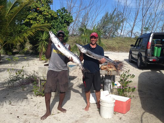 Bambarra, Middle Caicos: Catch of the day!
