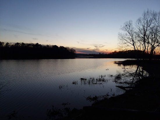 Camden, AL: Sunset over the Alabama River.