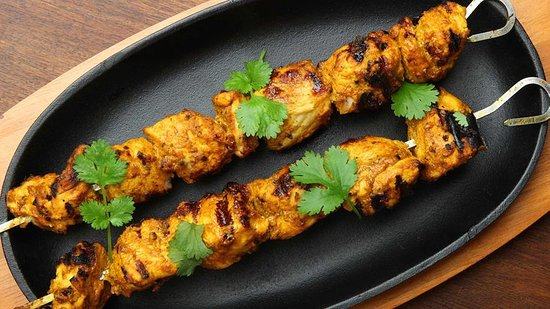 This is not what the tikka kebab looks like.  I wish.