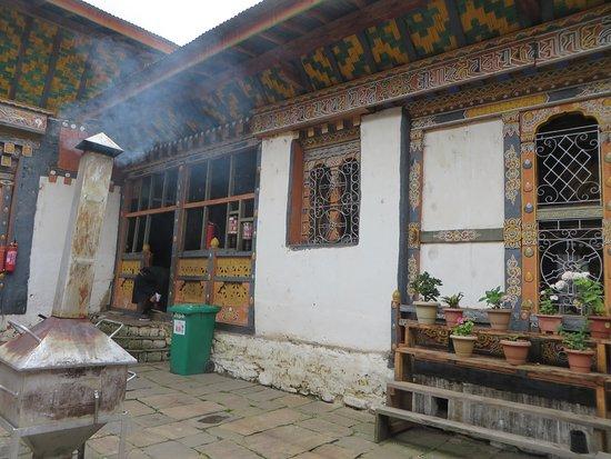 Jakar, Bhutan: Courtyard of the Temple
