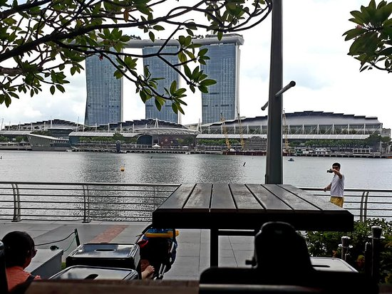 My view of Marina Bay Sands