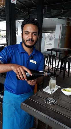Jay (Deshant) keeping my bubbly flowing!