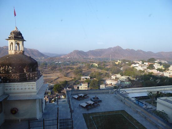 Opened our shutters to this stunning view on first morning in India