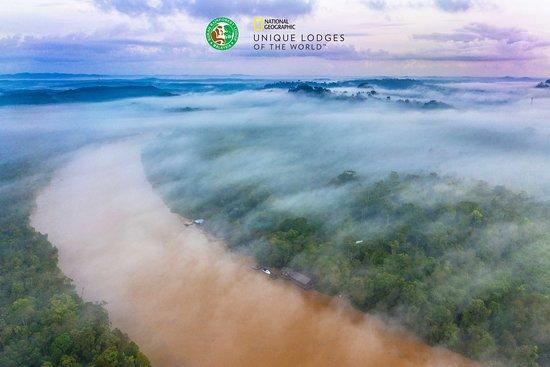 Kinabatangan District, Malaysia: Misty mornings at Sukau Rainforest Lodge on the Kinabatangan River.