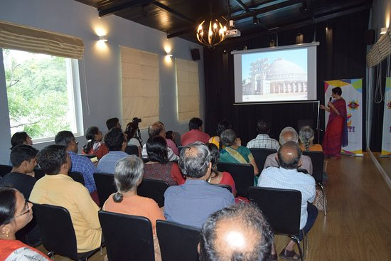"""""""Celebrating Shakthi"""", a 4-day Navrathri festival featuring workshops, talks, performances and more in September 2017..  A talk by Chitra Madhavan on the Architecture and History of Shakthi Temples."""