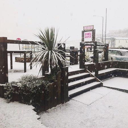 Porth, UK: When it snows 😍