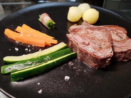 Filet amb verduretes