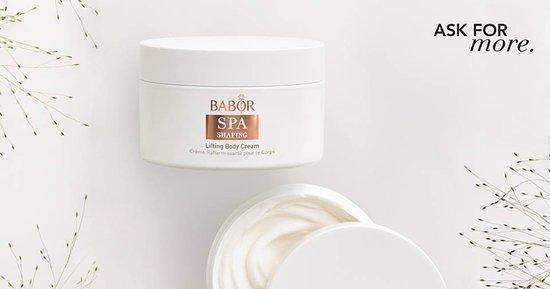 Cosmética Profissional no conforto do seu lar....  Lifting Body Cream (200ml / 39.50€), da linha BABOR SHAPING, contém extracto de células estaminais de mostajeiro e o complexo SHAPING, um refinador da silhueta. Trata-se de um creme de tratamento corporal, de consistência suave e efeito anti-idade, que melhora a elasticidade e flexibilidade da pele, ao mesmo tempo que lhe proporciona hidratação. #babor #baborspa #spaexperience